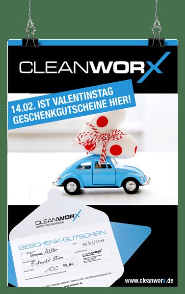 Geschenkgutschein Valentinstag Autoaufbereitung